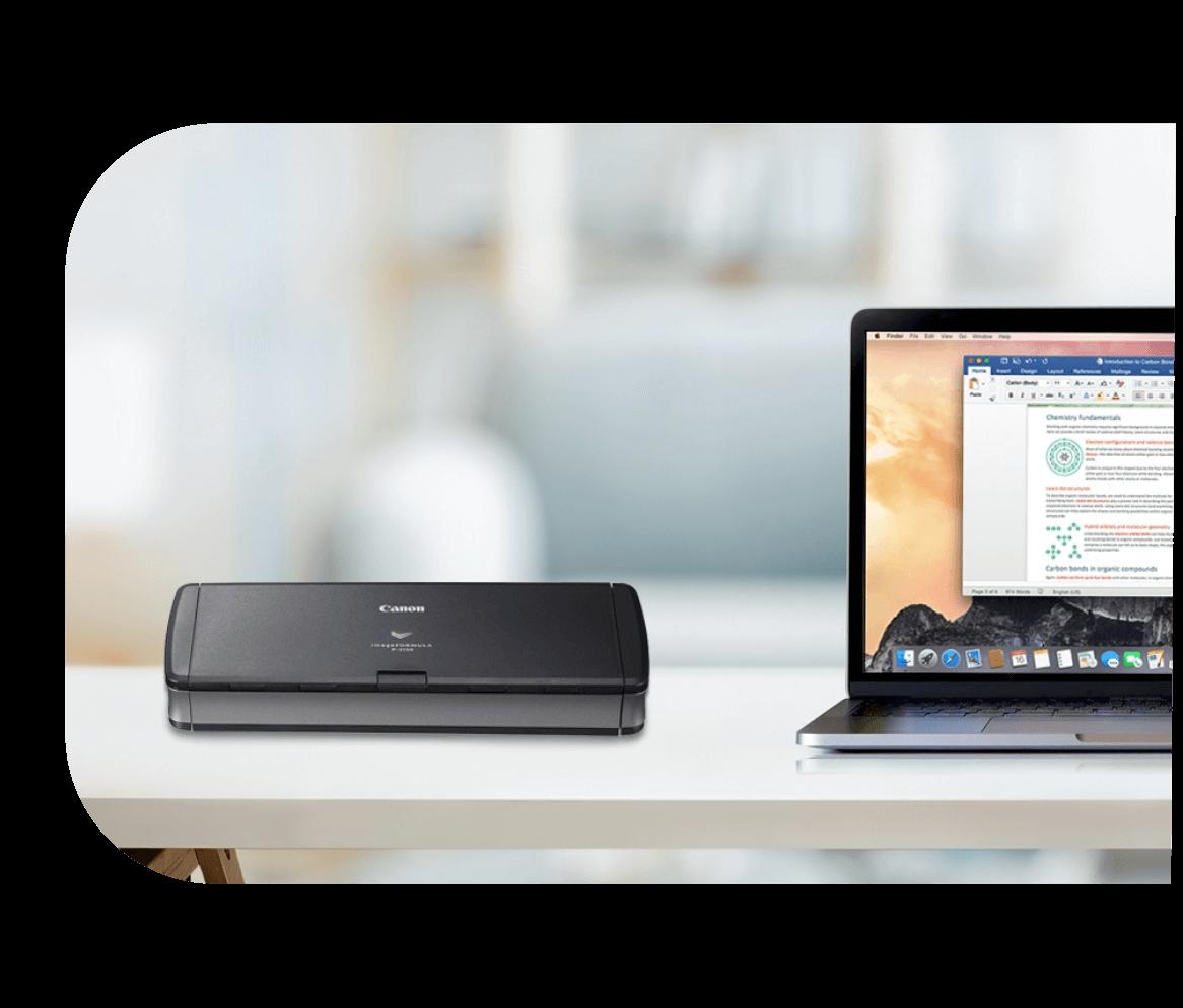 Printer and laptop