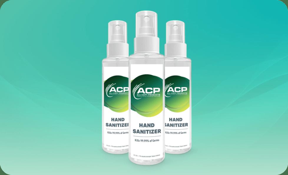 ACP hand sanitizer spray bottle