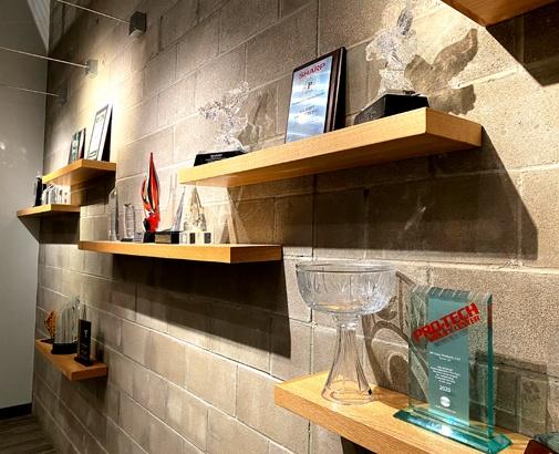ACP award wall