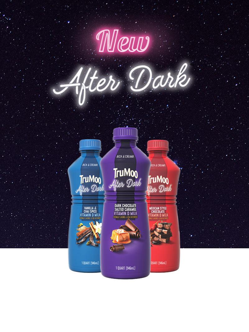after dark bottles with galaxy background