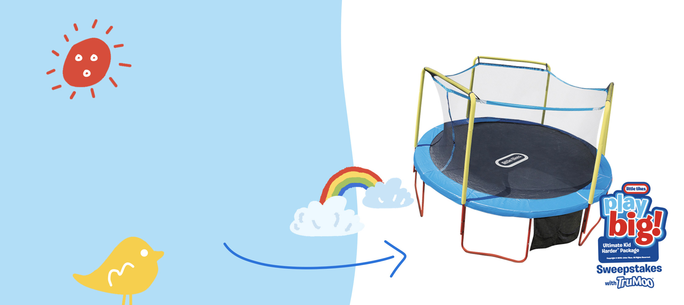 kids trampoline with illustrations