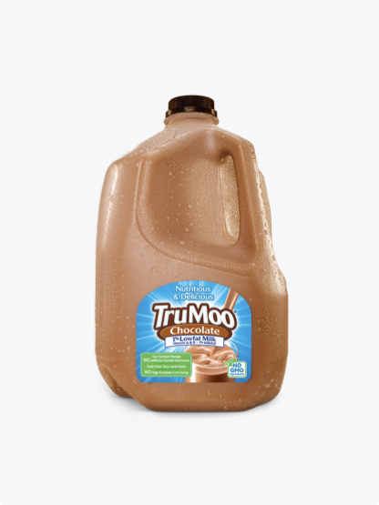 gallon jug of chocolate milk with brown cap