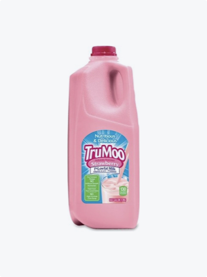 Pink half gallon bottle