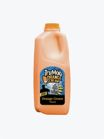 orange half gallon bottle