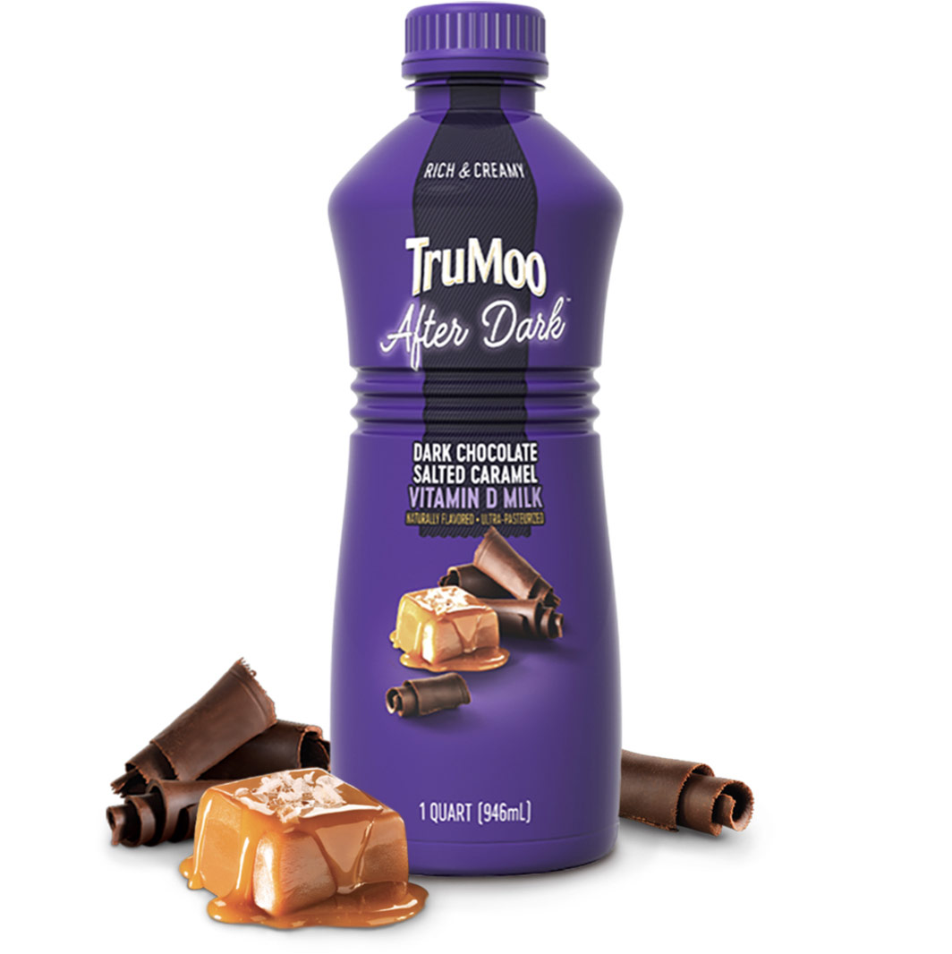 purple after dark bottle with caramel and chocolate
