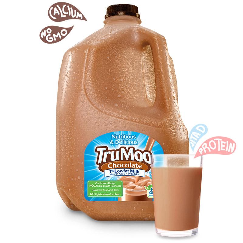 gallon jug of chocolate milk with glass and splash illustrations