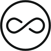 Infinity Symbol Icon representing audience reach capabilities