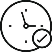 Clock icon representing real time audio