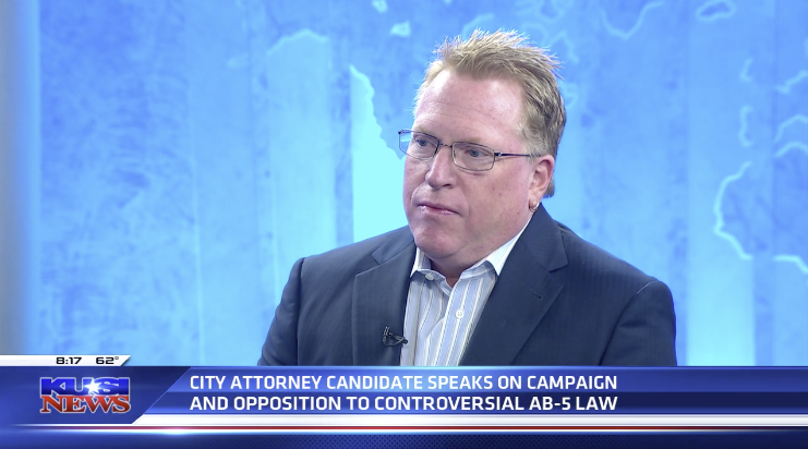 Cory Briggs stands with taxpayers in AB 5, Ash St. Battles