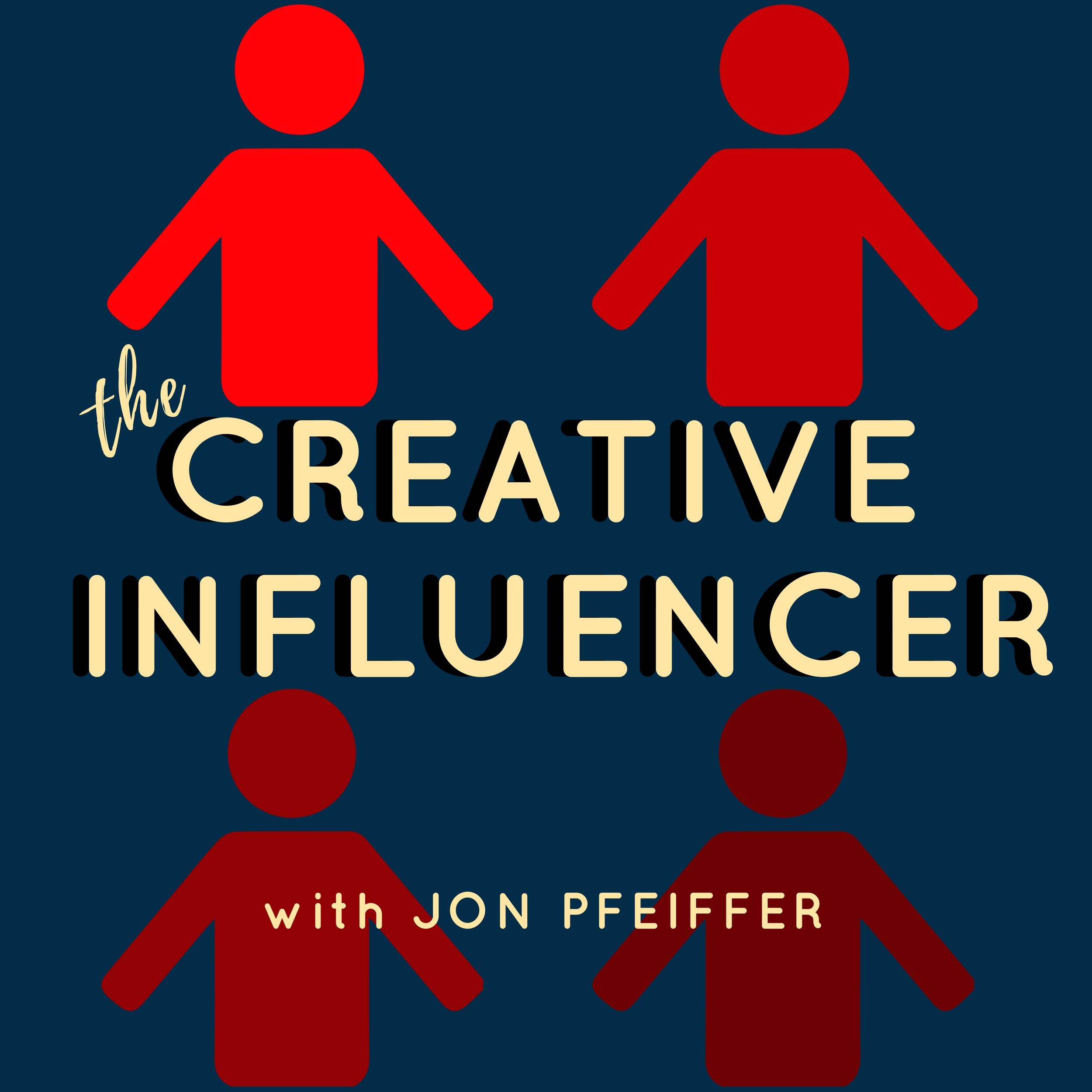 creative influencer podcast logo