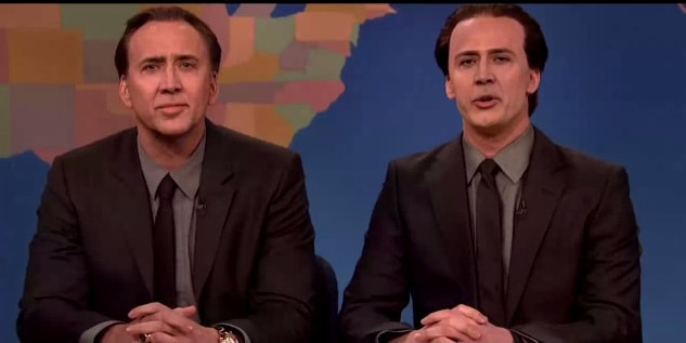 Nicolas Cage on SNL Weekly Update Deepfake