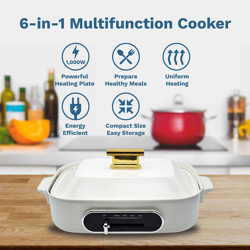 6 in 1 multifucntion cooker