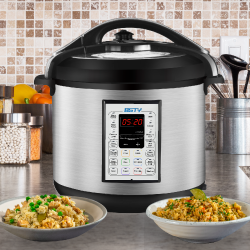 BSTY Pressure Cooker With 2 rice dishes