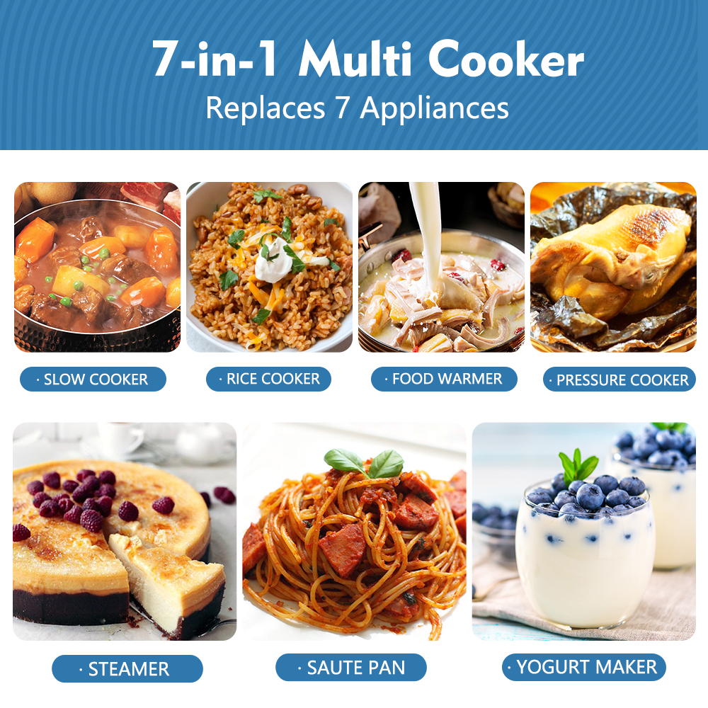 7 - in- 1 multi function cooker