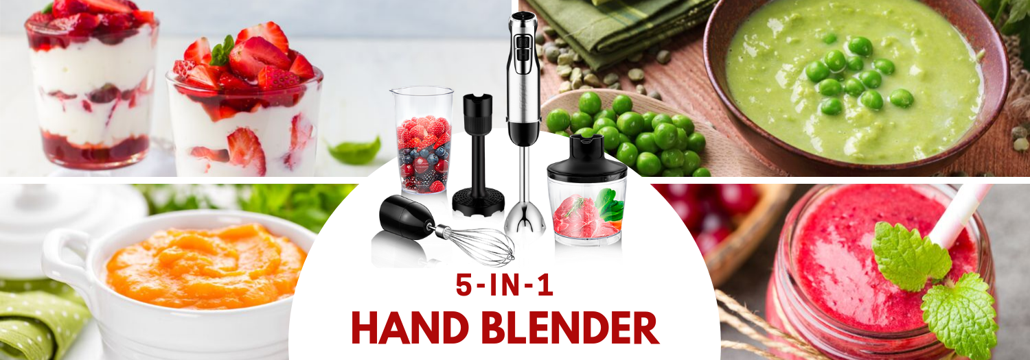 5 in 1 hand blender uses