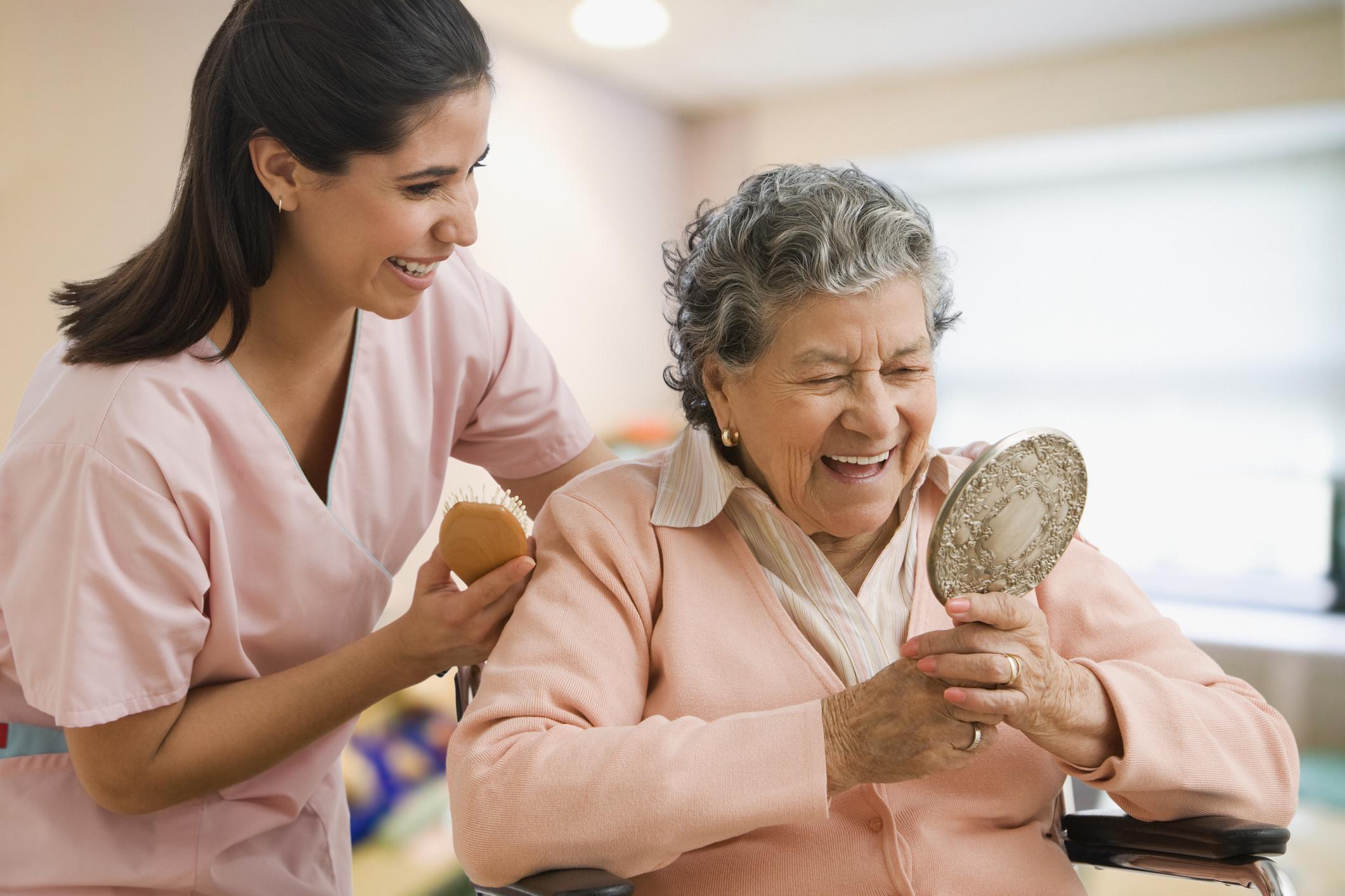CNA benefits — making someone laugh