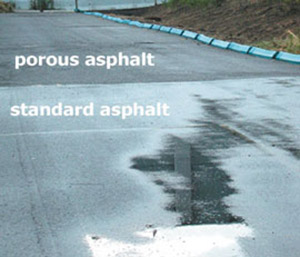 Porous versus standard asphalt comparison
