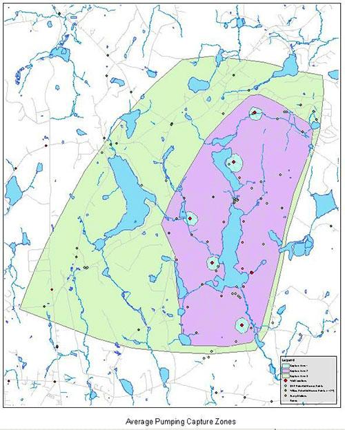 Average Pumping Capture Zones