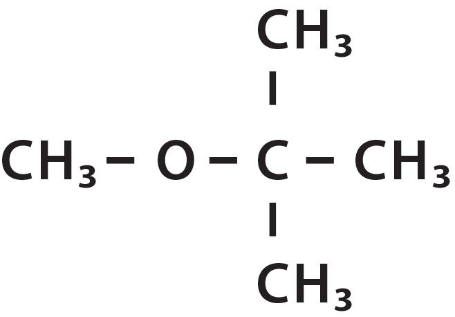 Methyl tert-butyl ether structural formula