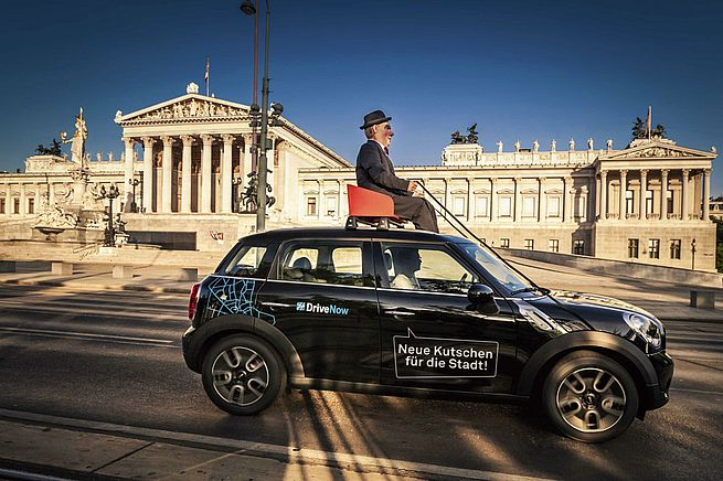 """Free registration """"DriveNow car sharing"""" for tenants of THE FIZZ Vienna"""