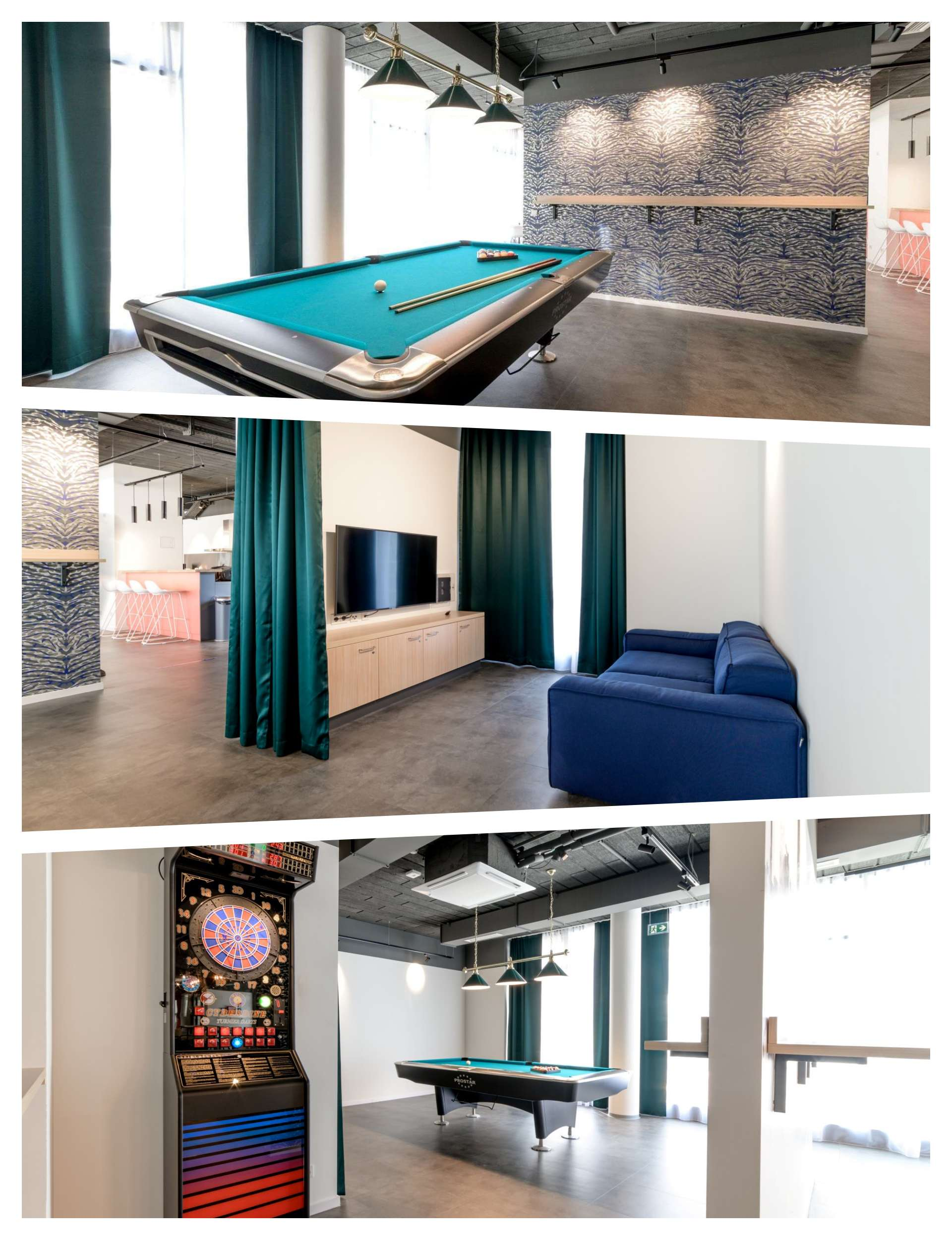 Gaming Areas at THE FIZZ Vienna Main Station Student Residence