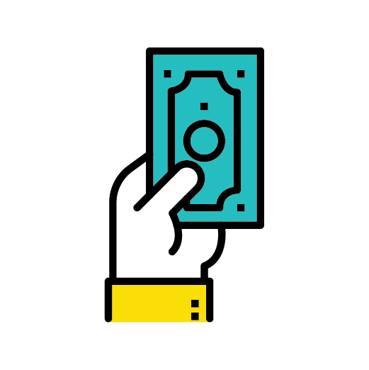 hand with cash icon