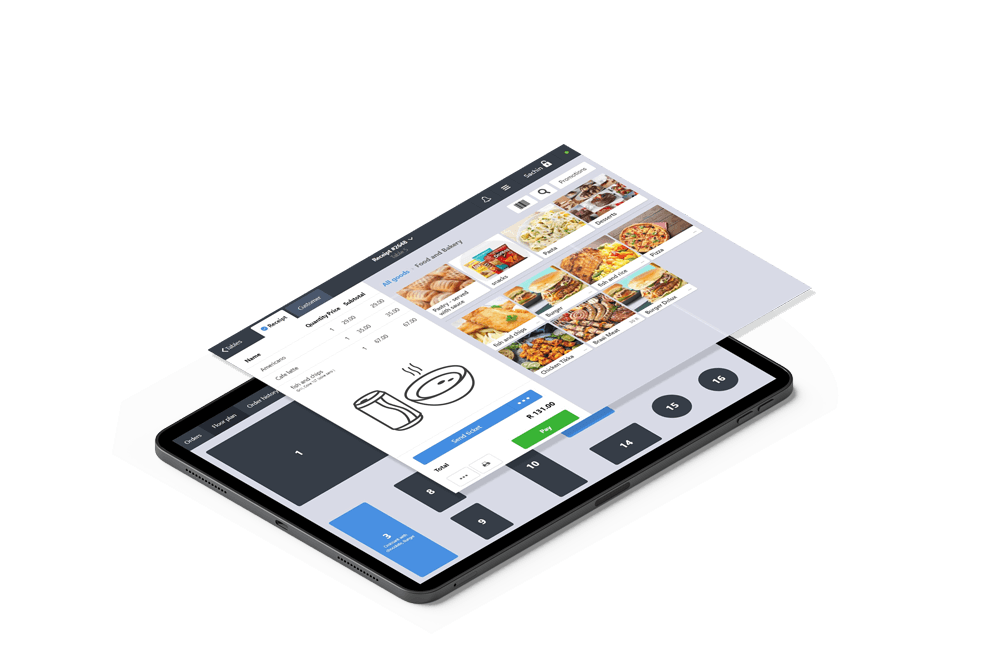 software mock up with hospitality icon