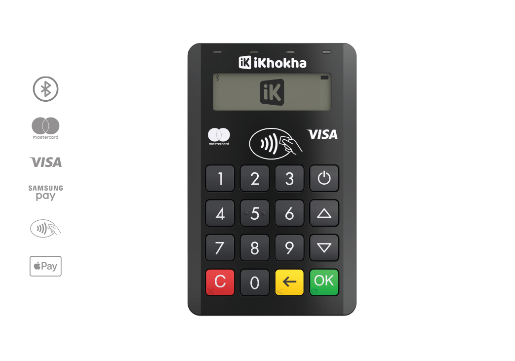 mover pro card machine with payment icons