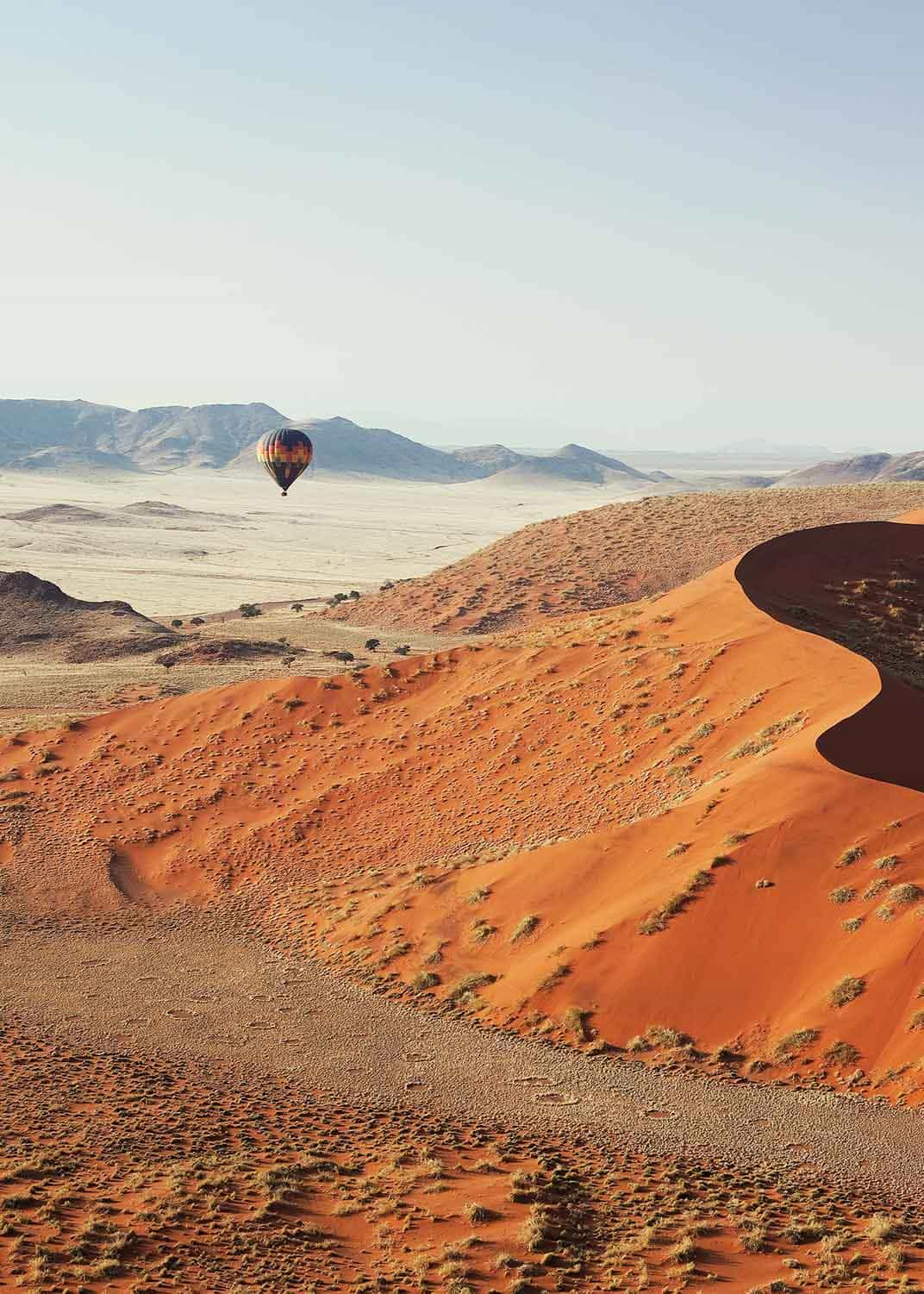 Namibia pictured from a Safari Drive hot air balloon experience