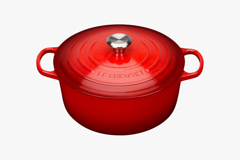 Red Le Creuset casserole