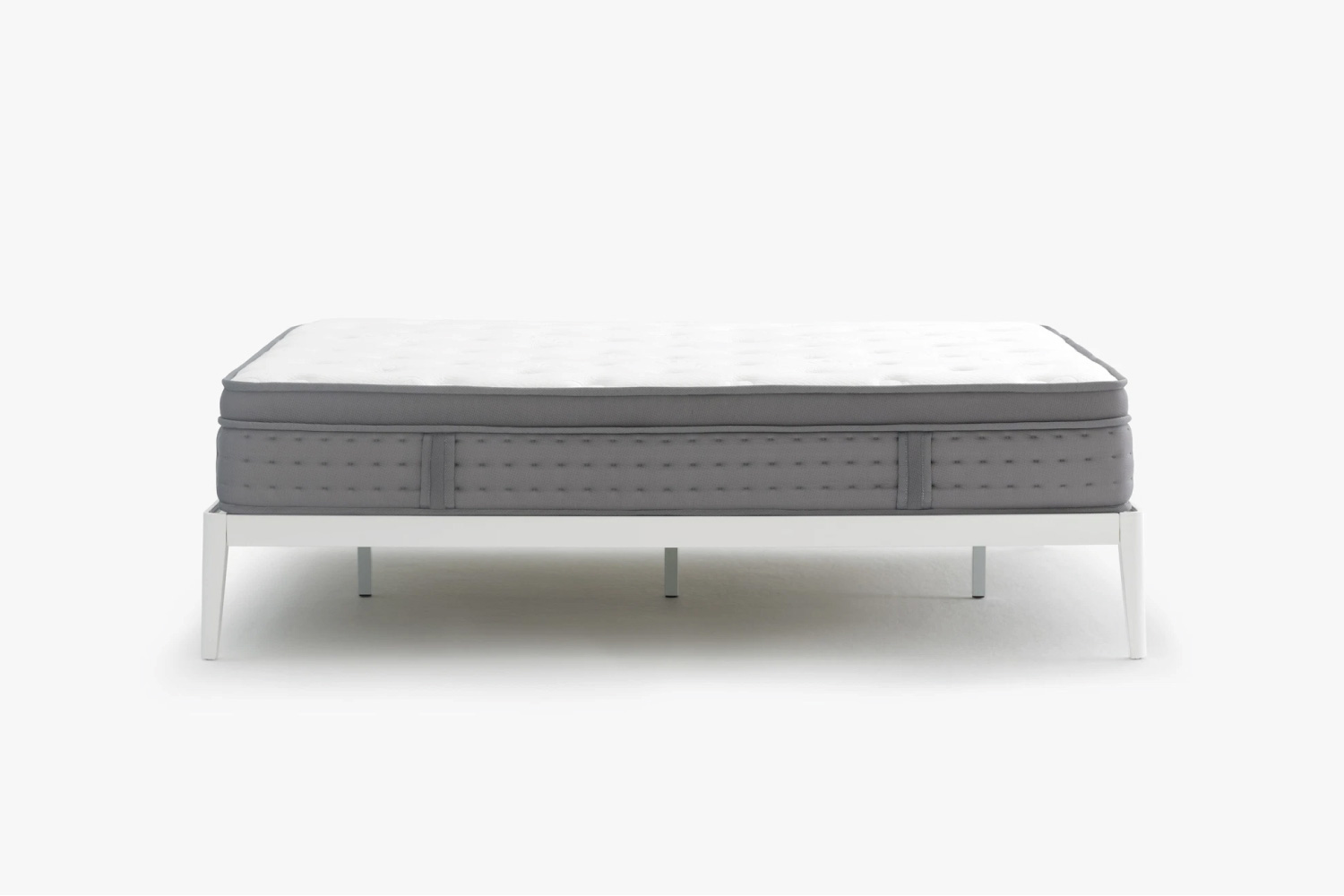 Noa mattress on white bedframe