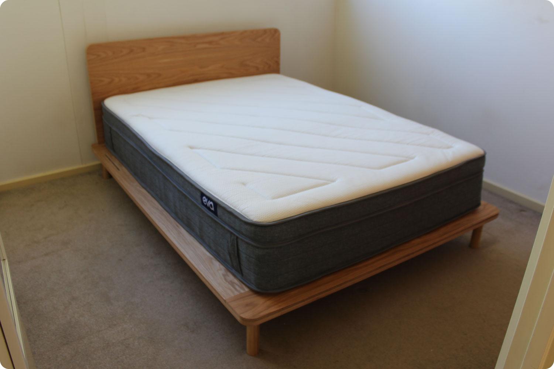 Eva mattress in bedroom