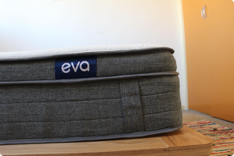 Eva mattress on timber bed frame