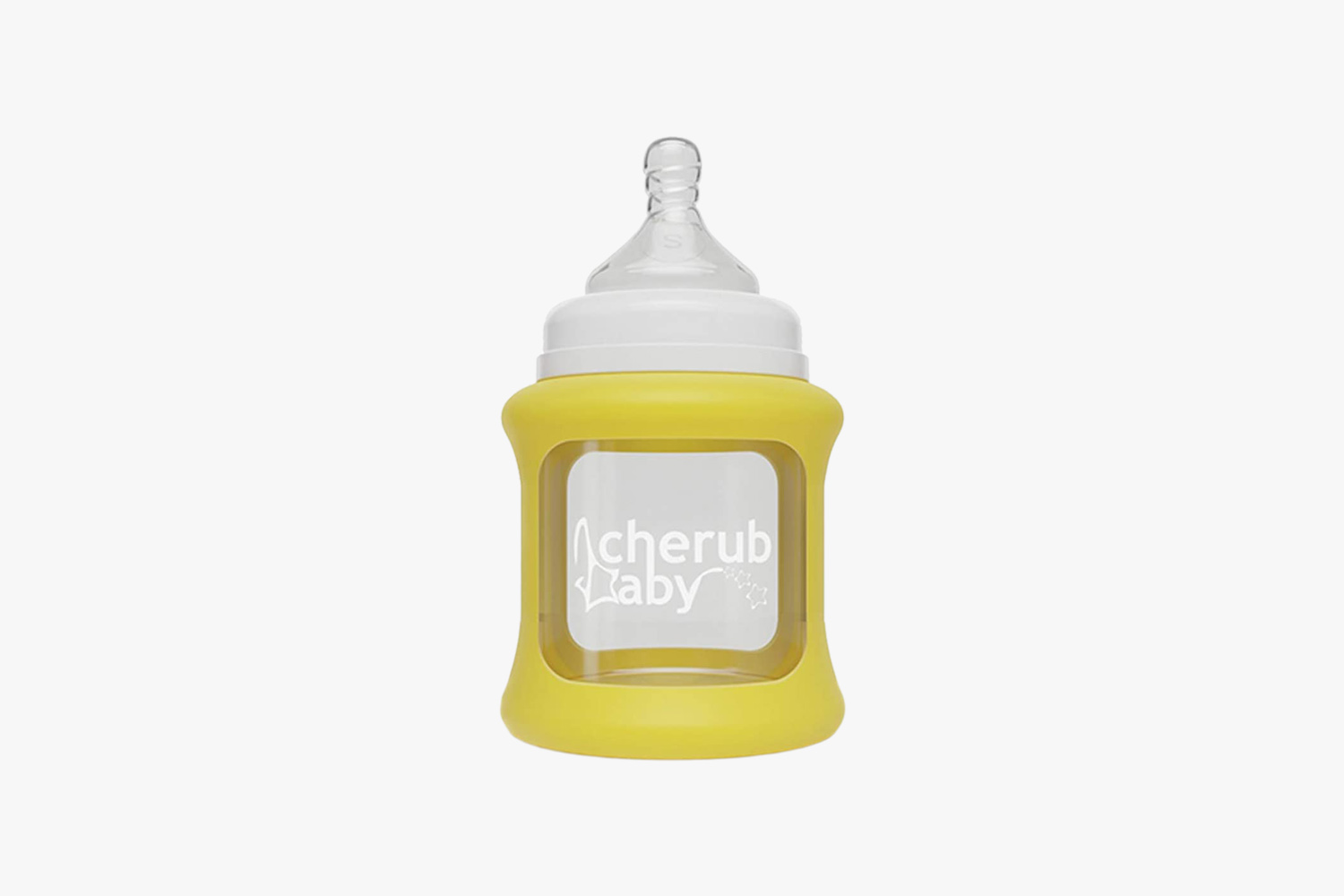 Cherub Baby Colour Change Glass Wide Neck Bottle