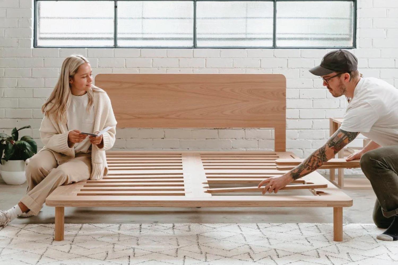 Eva timber bed frame