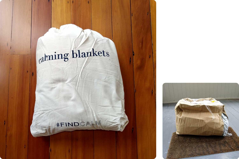 Calming blanket unboxing