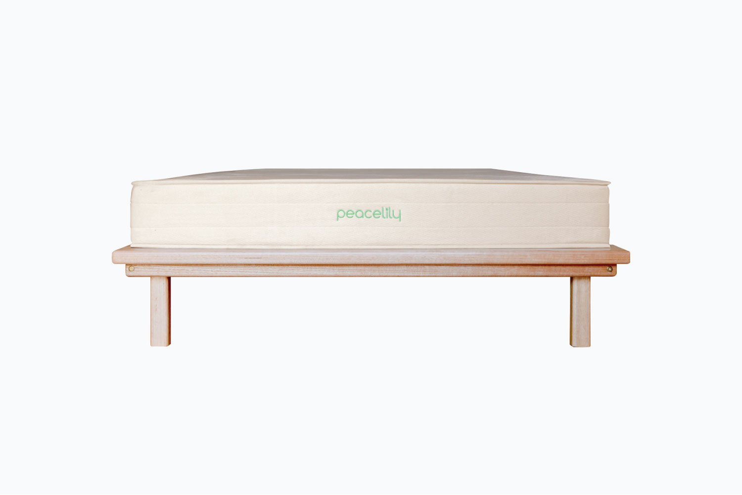 Peacelily mattress on bed base