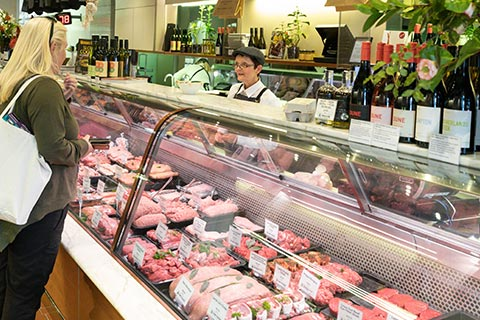 Butcher meat counter in Toorak