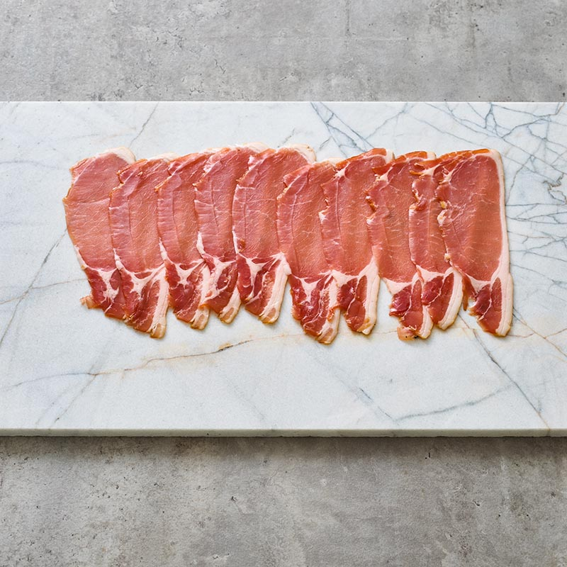 Free Range Dry Cured Middle Bacon Packet