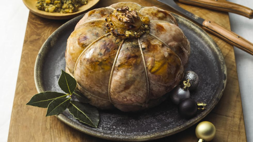 Turkey paupiette with stuffing recipe