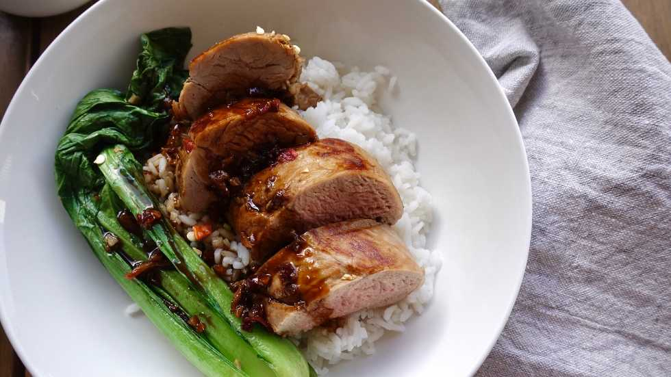 ginger and soy poached pork