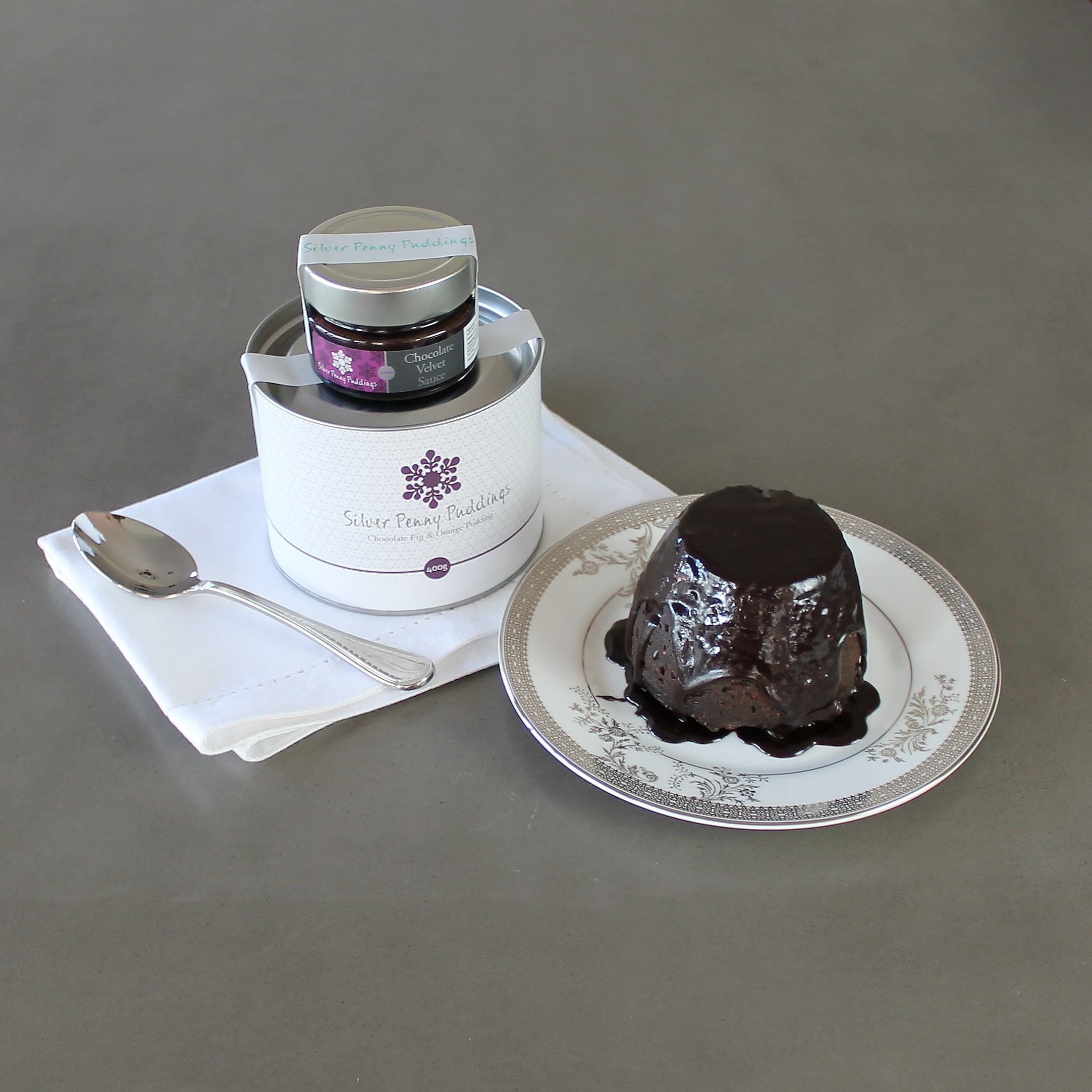 Silver Penny Puddings Chocolate Fig & Orange Pudding