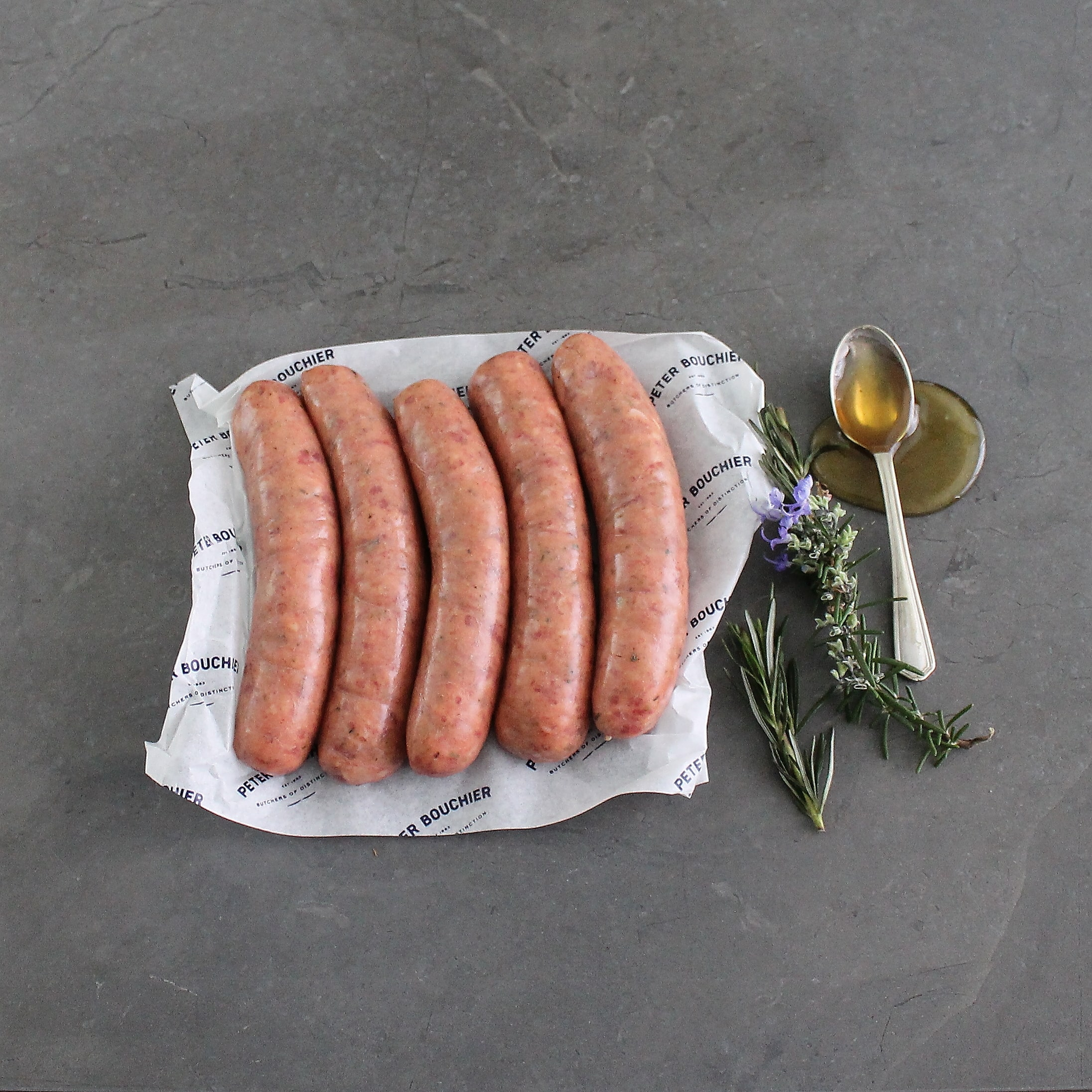 Lamb, Honey and Rosemary Sausages