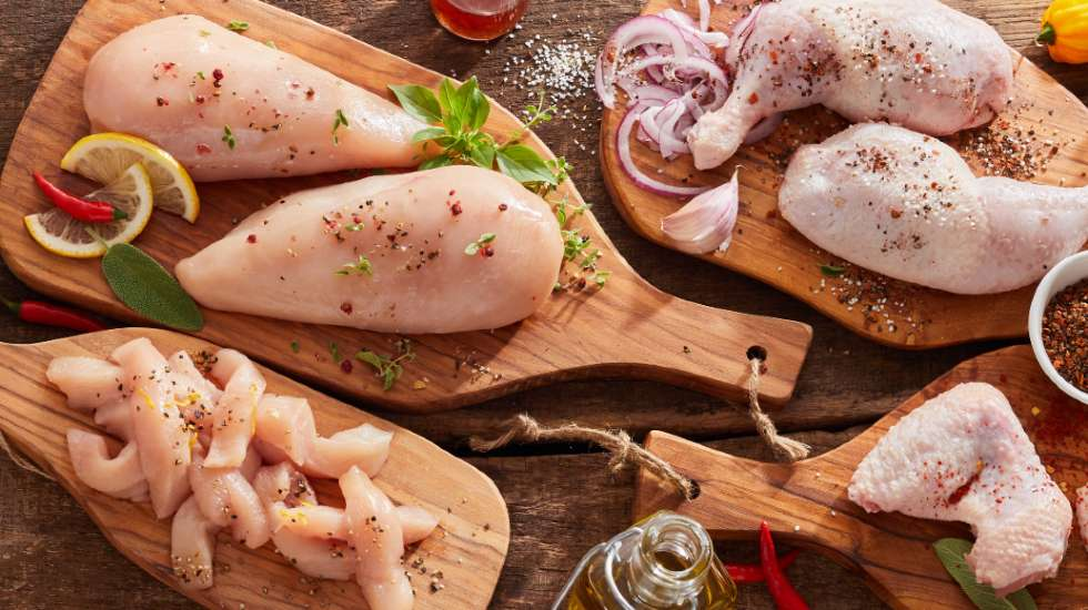 raw chicken portions
