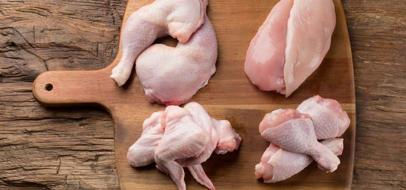 different cuts of chicken