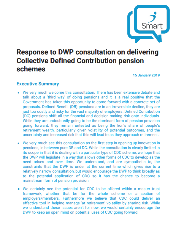 Preview of Smart CDC consultation response