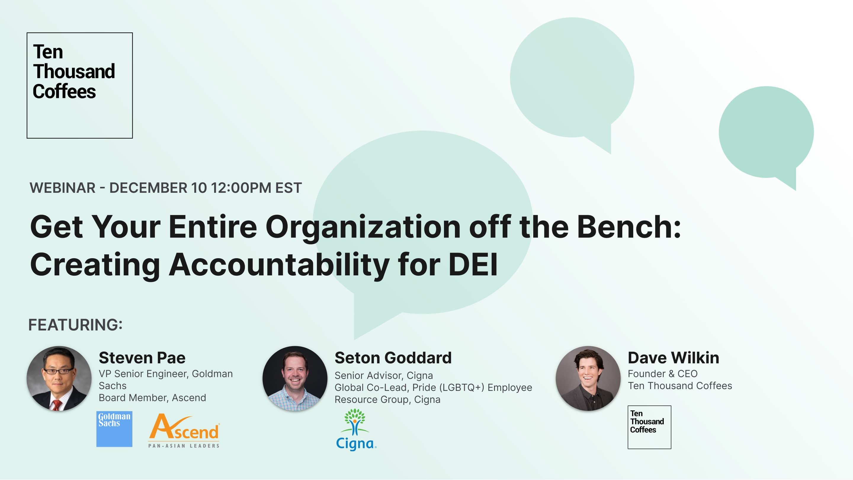 """Webinar image for """"Get Your Entire Organization off the Bench: Creating Accountability for DEI"""""""
