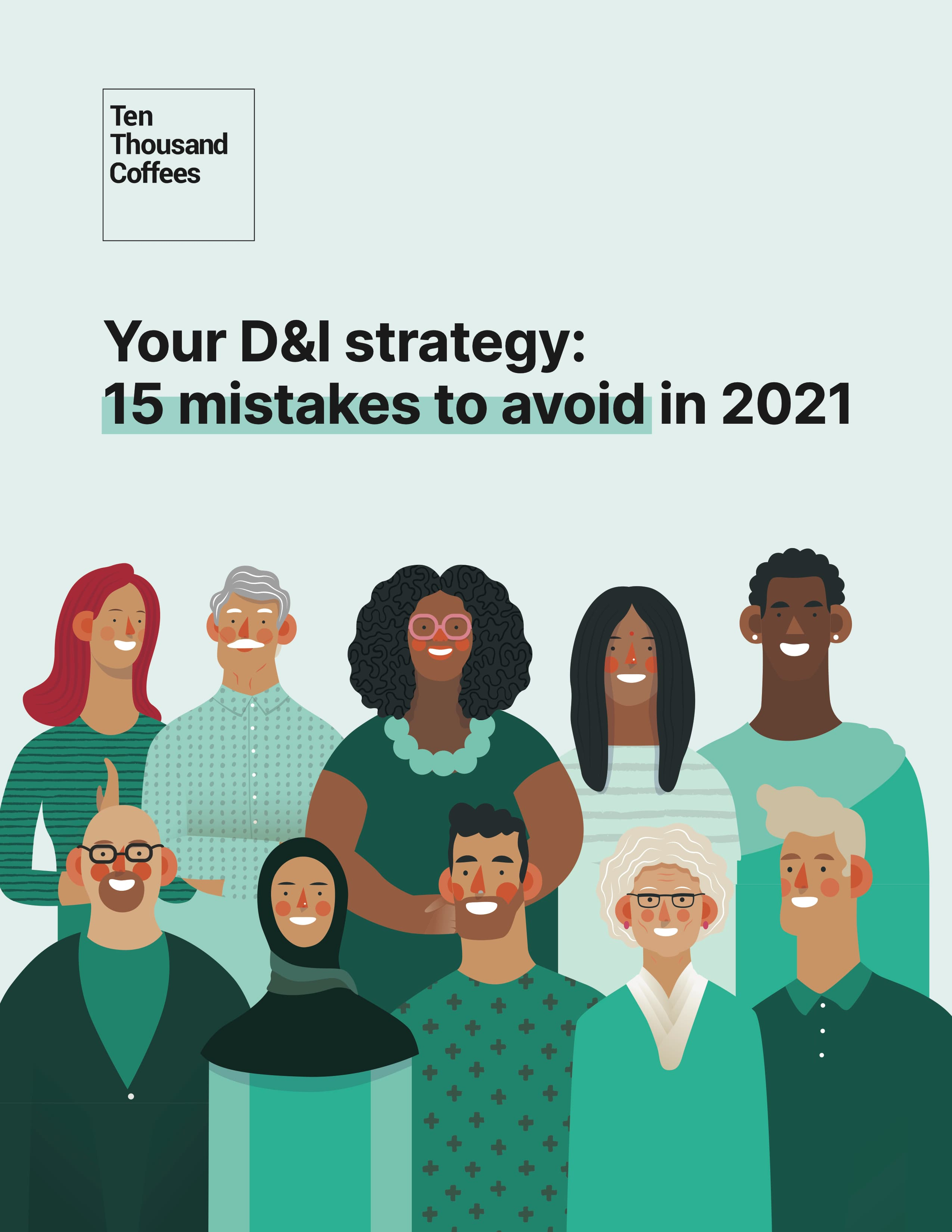 """Ebook cover for """"Your D&I Strategy: 15 mistakes to avoid in 2021"""""""
