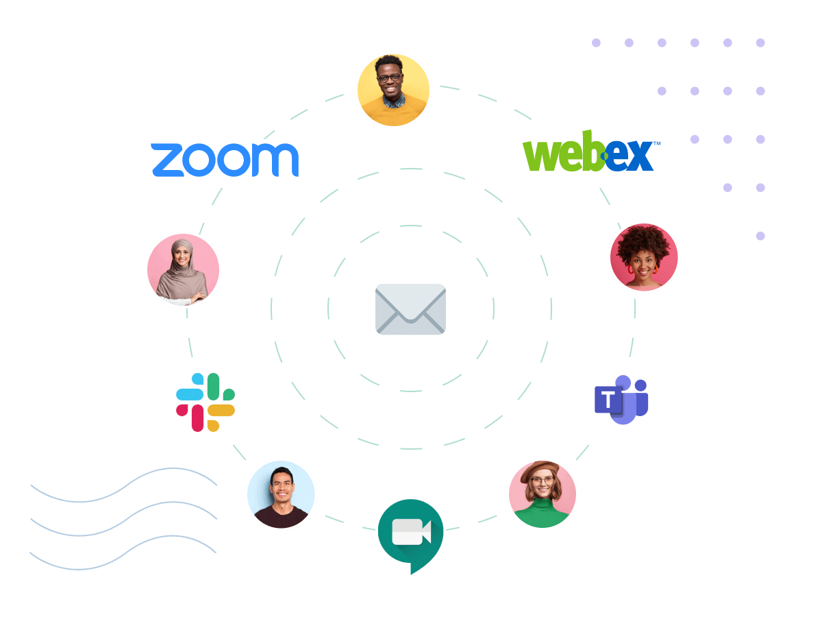 Using zoom, slack, webex, Google meet or teams to schedule a virtual chat.