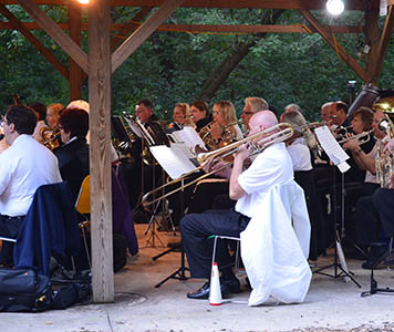 Musical ambiance delights at historic Merkle Cabin